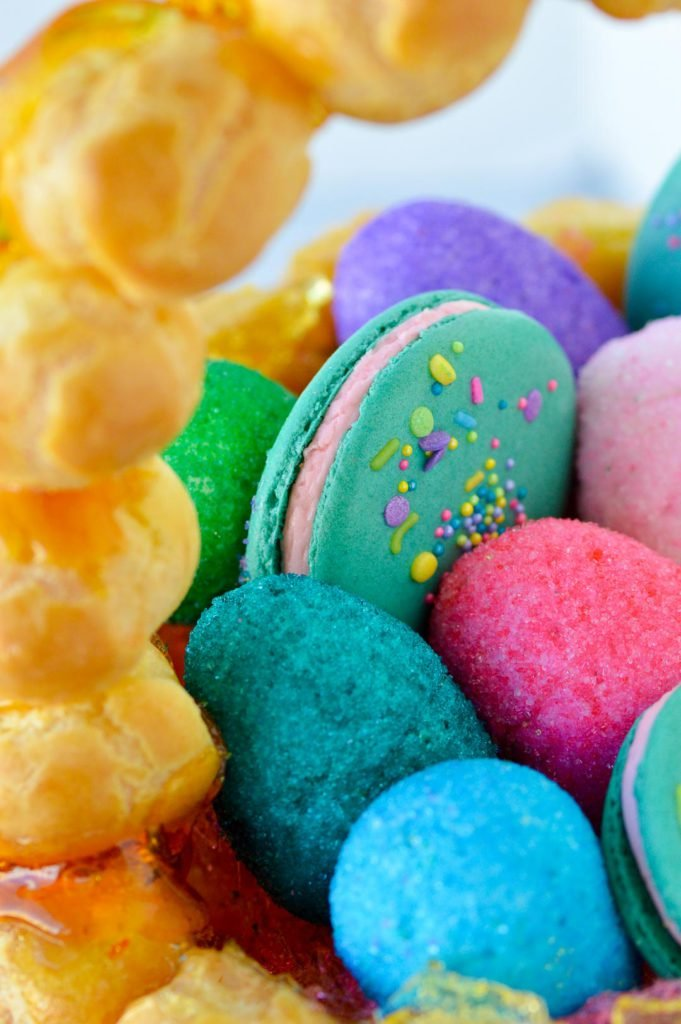 Marshmallow Easter Eggs and Springtime Macarons