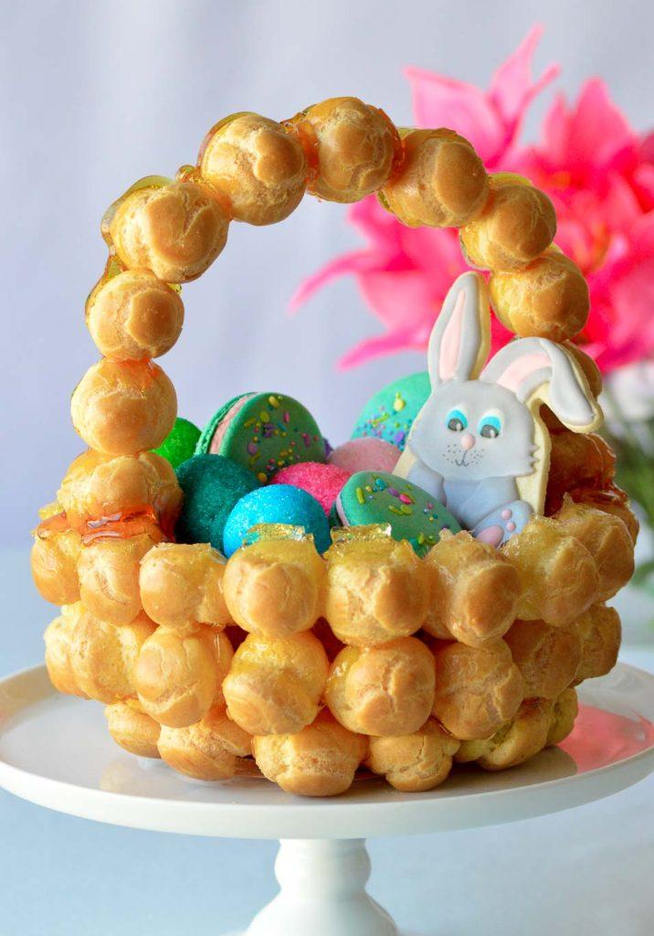 Springtime Easter Croquembouche Corquembasket