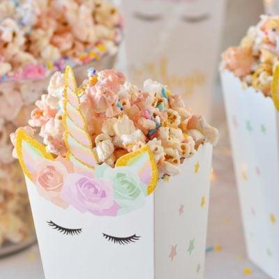 unicorn popcorn in unicorn popcorn box