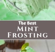 pinterest pin for mint frosting