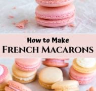 pink and white french macarons