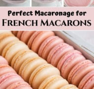 pin of macaron process and finished macarons