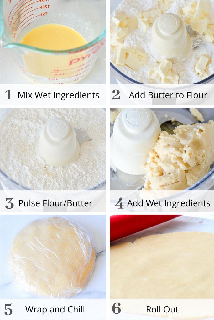 Process of making sweet tart dough