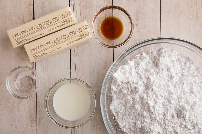 american buttercream frosting ingredients