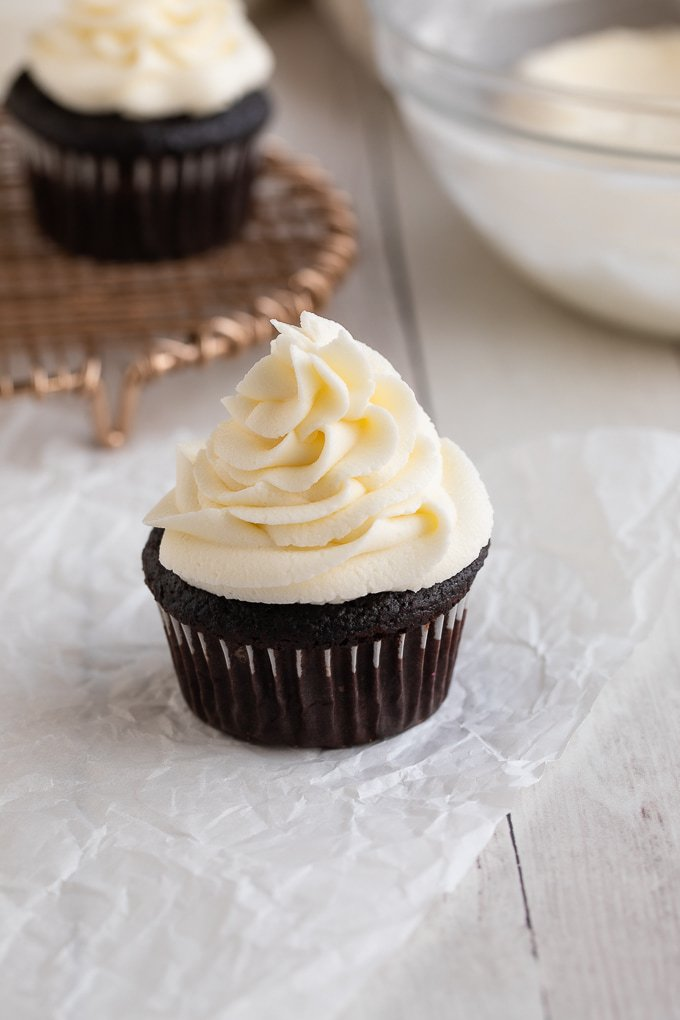 American Buttercream Frosting on Cupcake