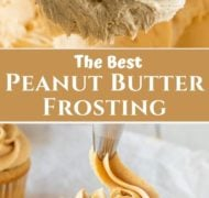 pin of peanut butter frosting