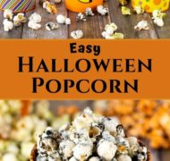 pin of halloween popcorn
