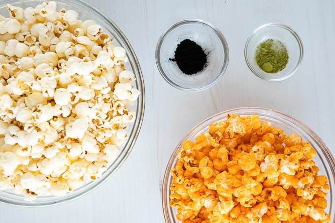 easy halloween popcorn ingredients