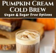 Pin of pumpkin cream cold brew