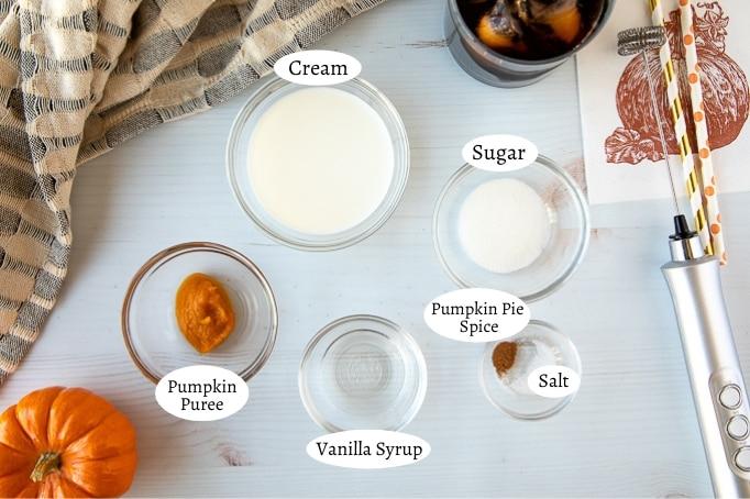pumpkin cream cold brew ingredients