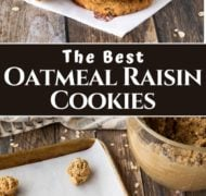 pin of oatmeal raisin cookies