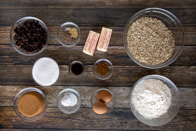 oatmeal cookie ingredients