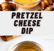 pin of pretzel cheese dip