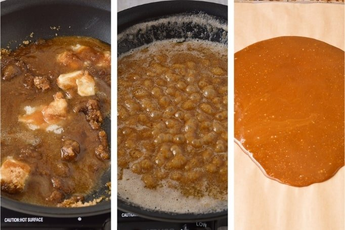 process of making homemade toffee