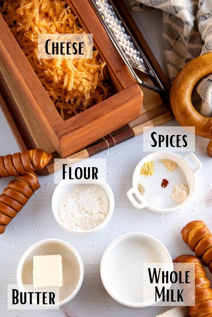 ingredient for pretzel cheese dip