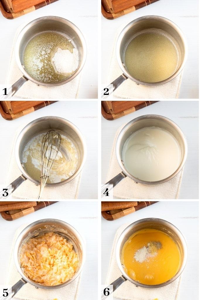 process of making pretzel cheese dip