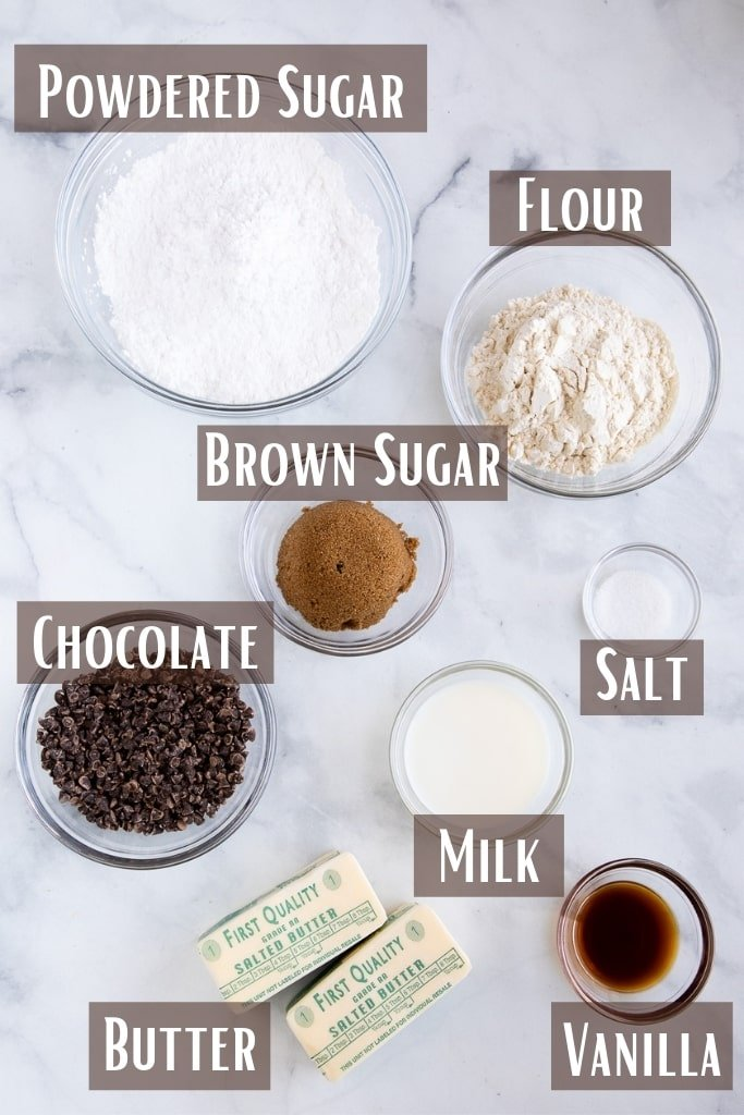 Cookie Dough Frosting Ingredients