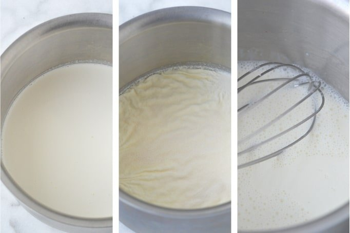 process of blooming gelatin in cream