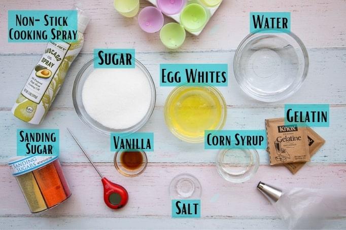 marshmallow easter egg ingredients