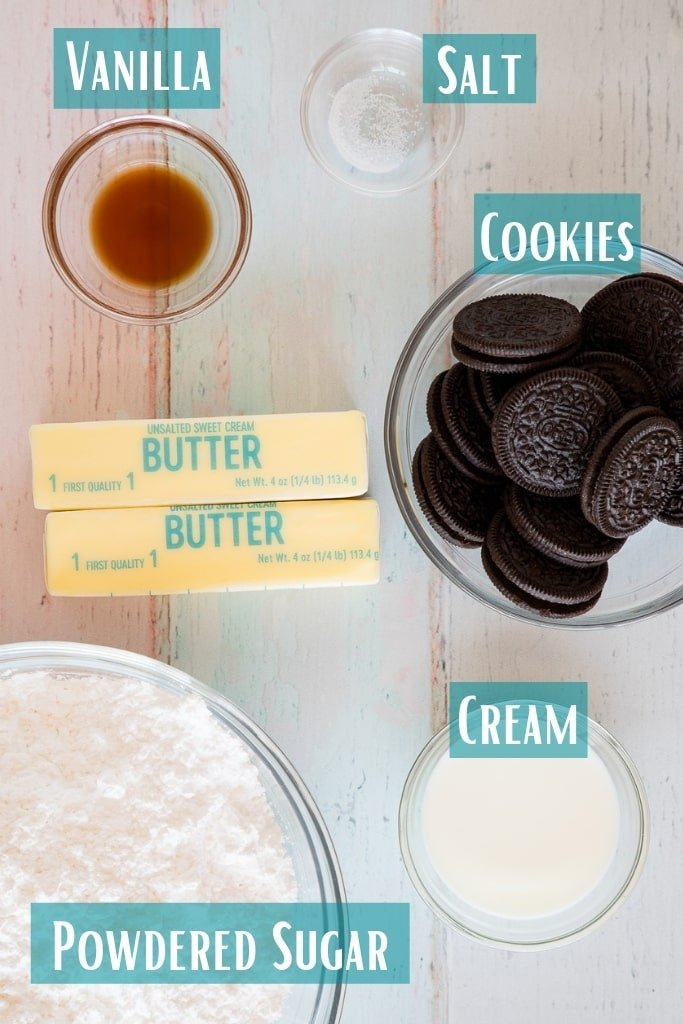 cookies and cream frosting ingredients