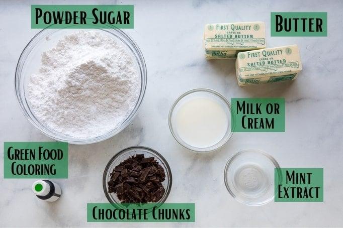 mint frosting ingredients