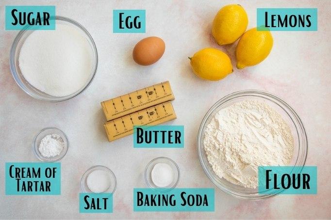 lemon sugar cookies ingredients