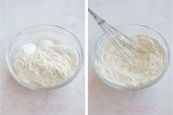 mixing dry ingredients in bowl