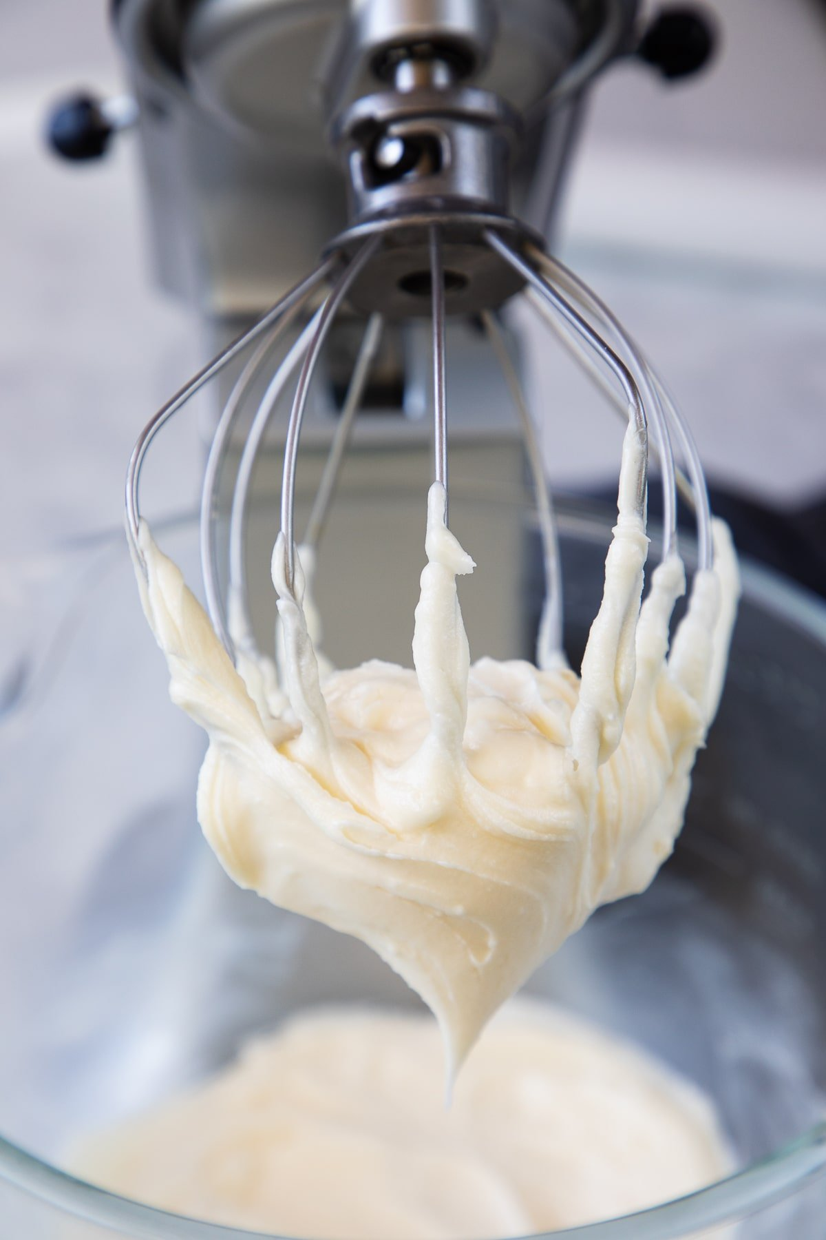 Cream Cheese Frosting on beater